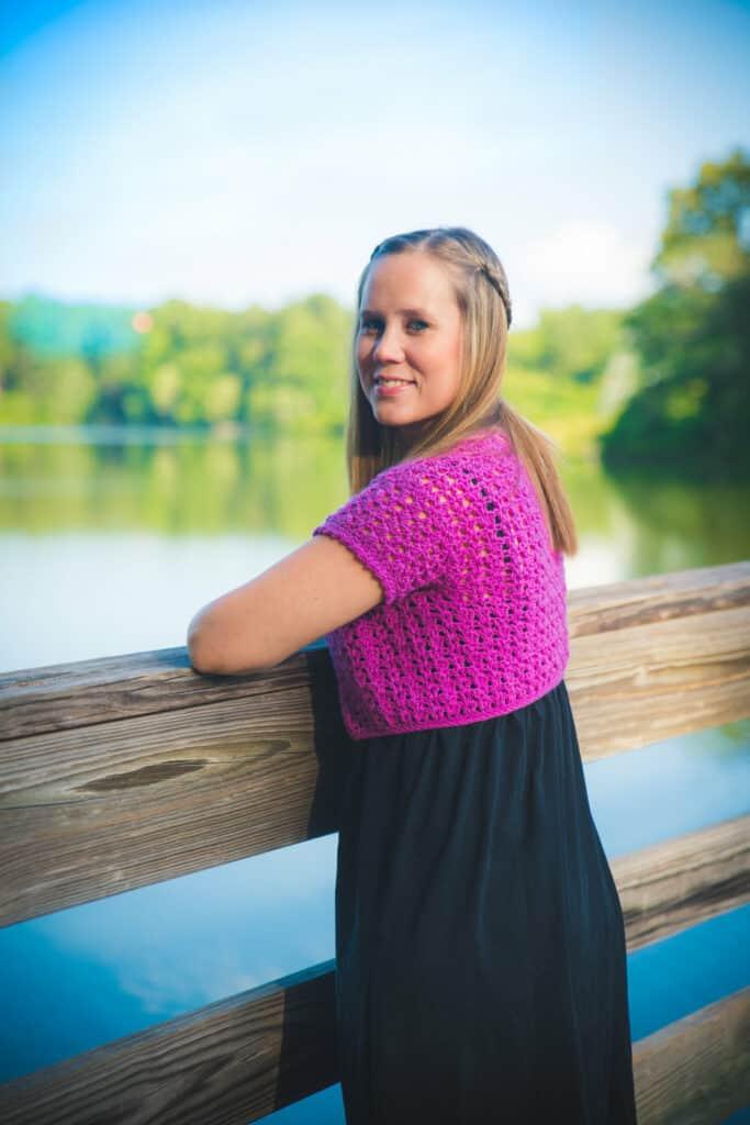 Katie Cardi Shrug Style