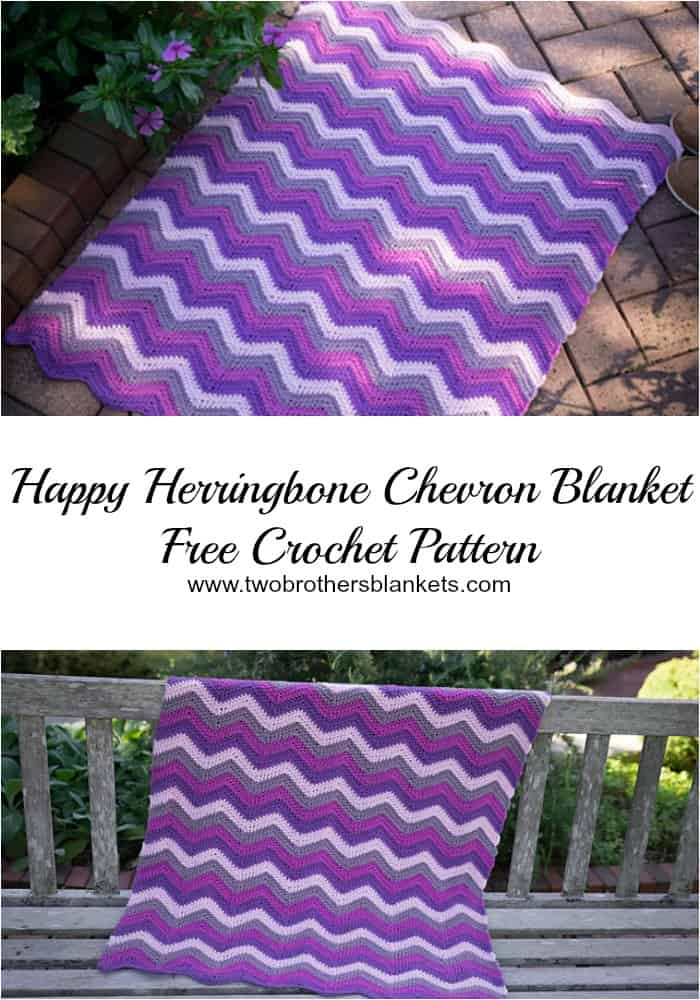 happy herringbone chevron blanket