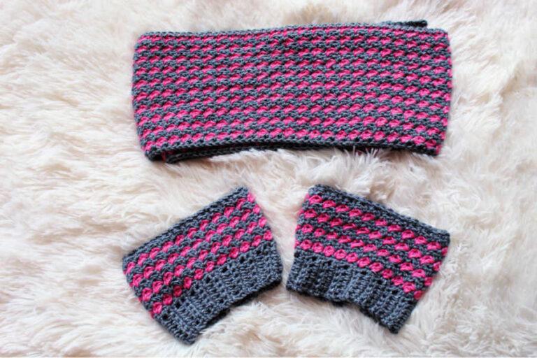Simple Crochet Scarf + Boot Cuffs Free Pattern