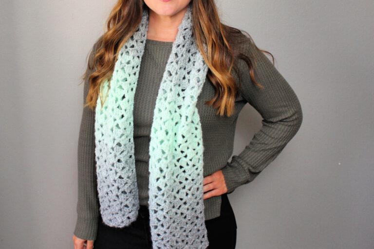 Easy Crochet Scarf Free Pattern – Delightful Scarf