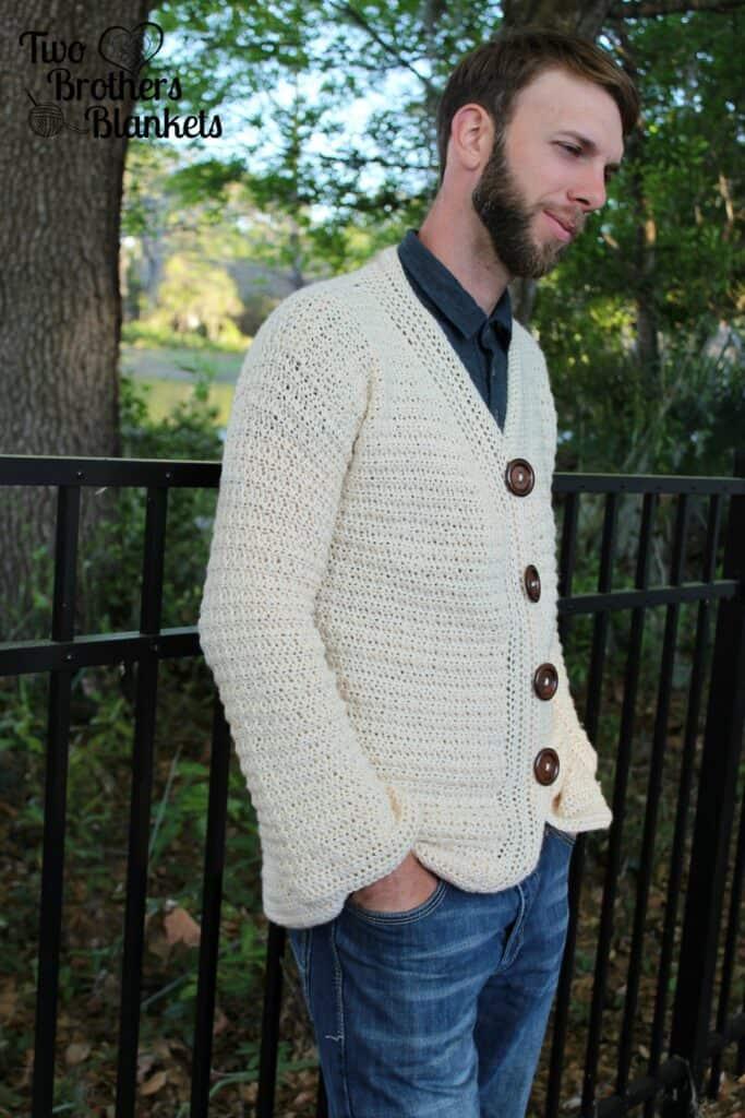 Dude Cardigan Crochet Pattern
