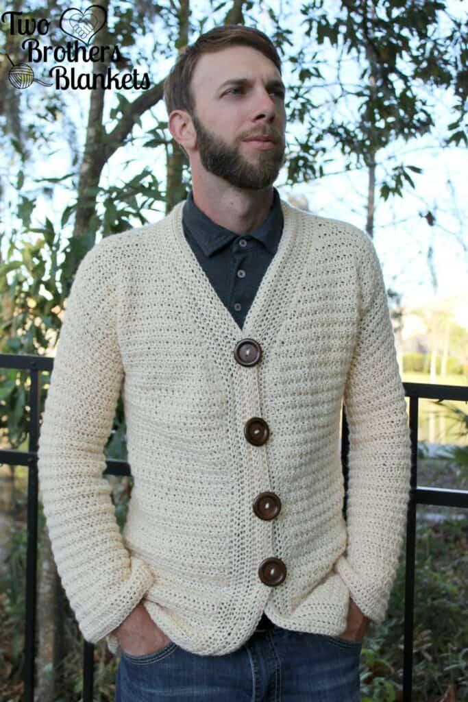 Blazer Style Cardigan for Men