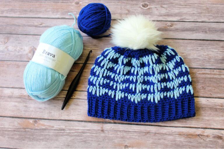 Easy Crochet Hat Pattern – Heartbeat Hat