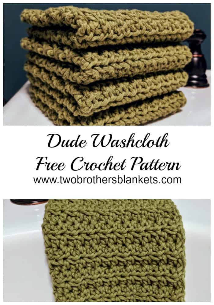 Dude Washcloth Free Crochet Pattern