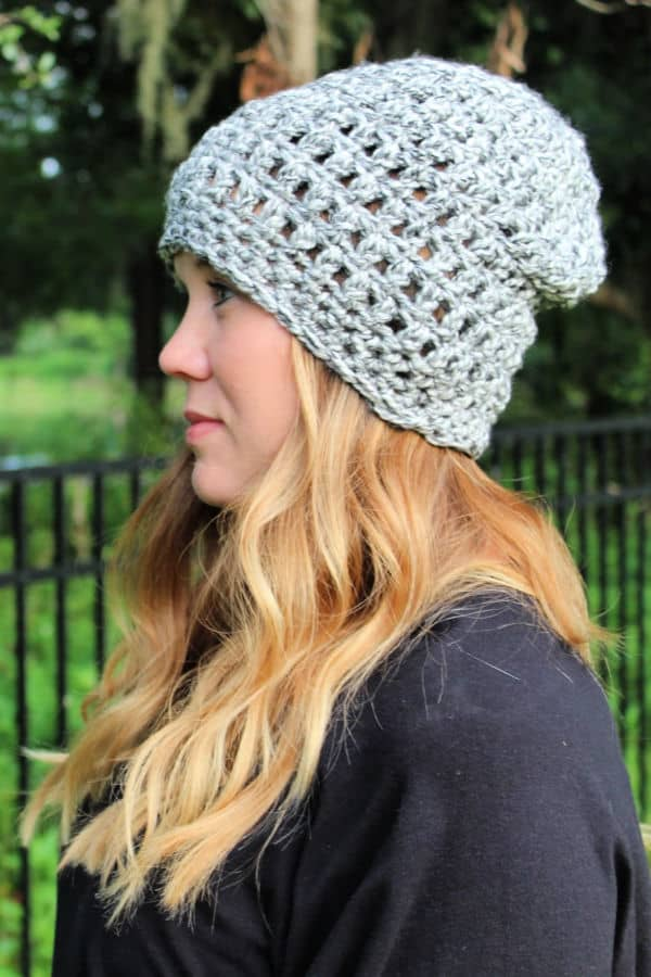 Easy Peasy Slouch Hat Free Crochet Pattern