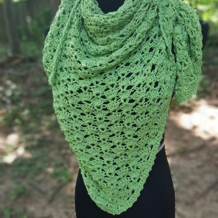 Crochet Triangle Shawl Free Pattern- Cecilia Shawl
