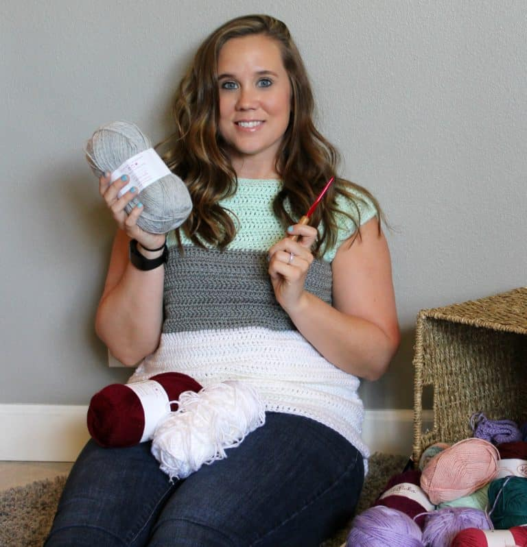 Stash Buster Sweater- Free Crochet Pattern