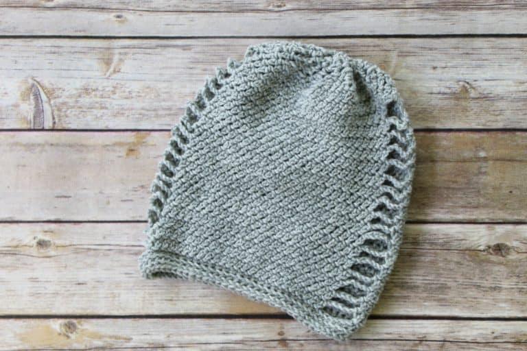 Crochet Slouch Hat Free Pattern- La Maille Hat