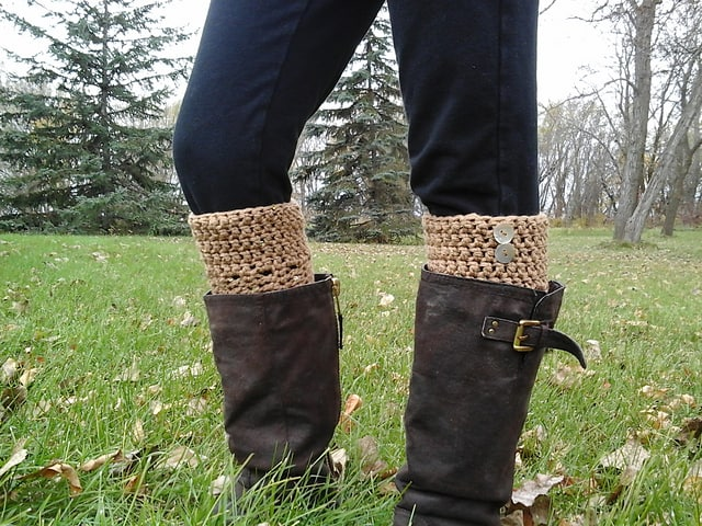 Crochet Boot Cuffs Free Pattern