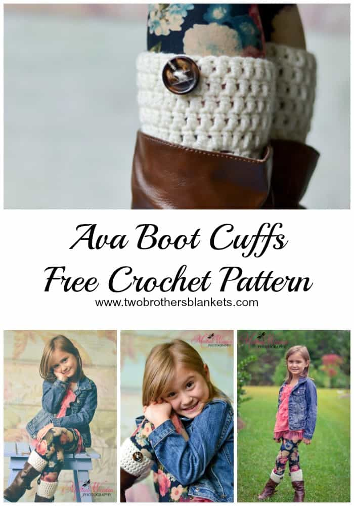 Ava Boot Cuffs Crochet Pattern by Two Brothers Blankets