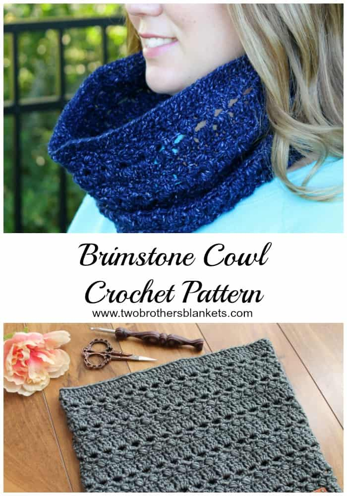 Brimstone Cowl Crochet Pattern Two Brothers Blankets