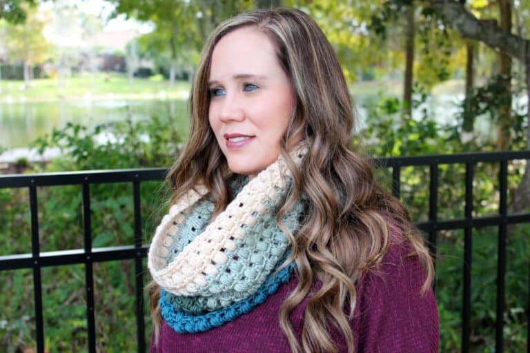 Free Crochet Cowl Pattern – Winter Blooms Cowl