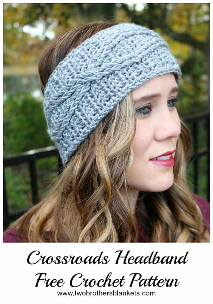Crossroads Headband Free Crochet Pattern Two Brothers Blankets