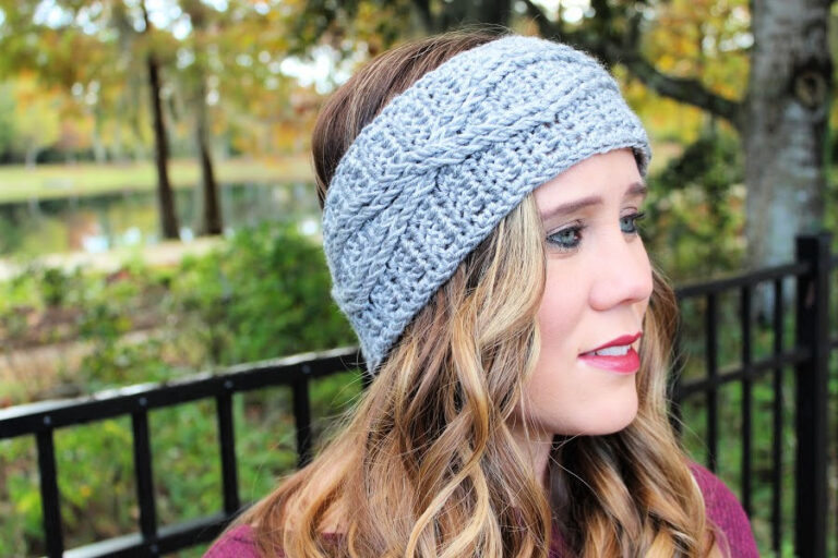 Crochet Headband Free Pattern- Crossroads Headband