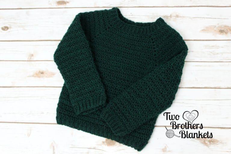 Men's Crochet Pullover Sweater Pattern- Dude Sweater