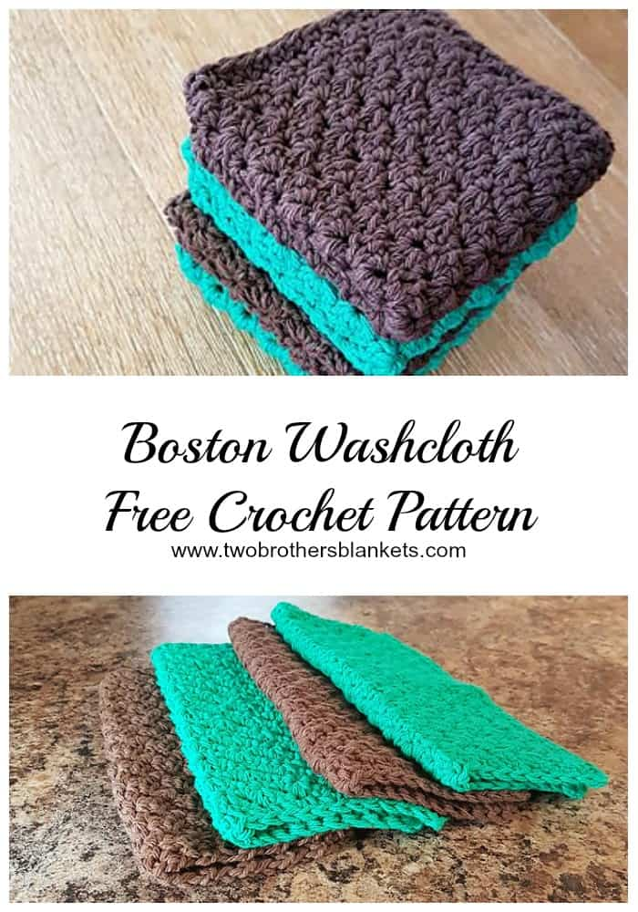 Boston Washcloth- Free Crochet Pattern - Two Brothers Blankets