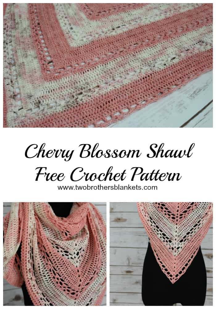 Cherry Blossom Shawl Crochet Pattern