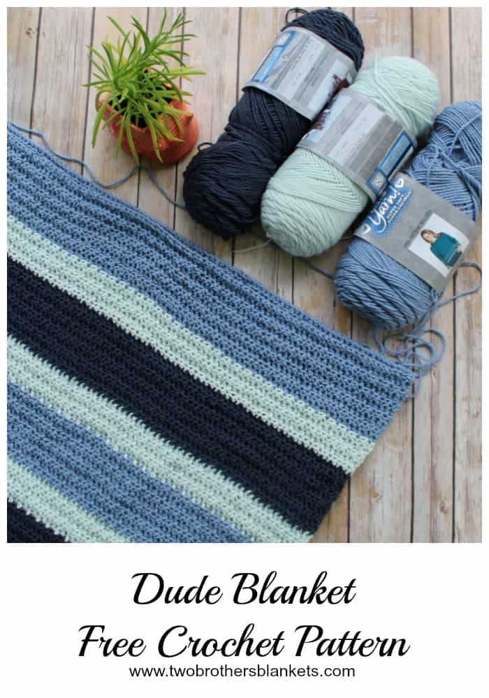 Dude Blanket Free Crochet Pattern