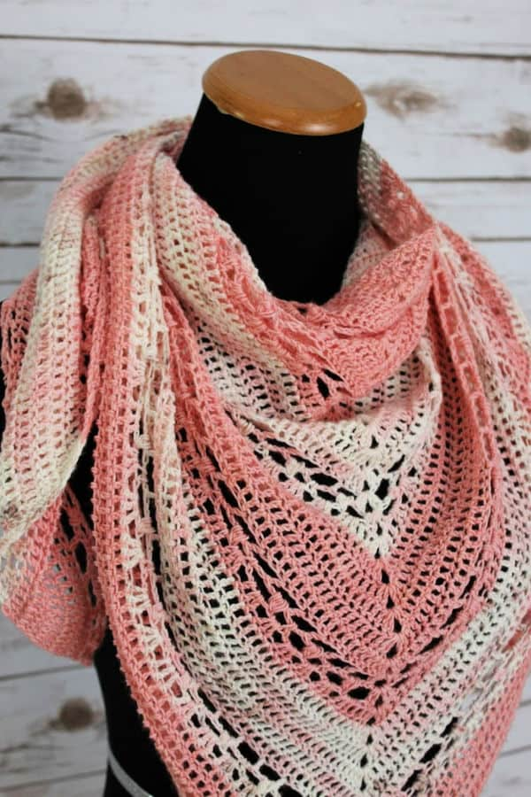 Cherry Blossom Shawl by Michelle @ Two Brother's Blankets