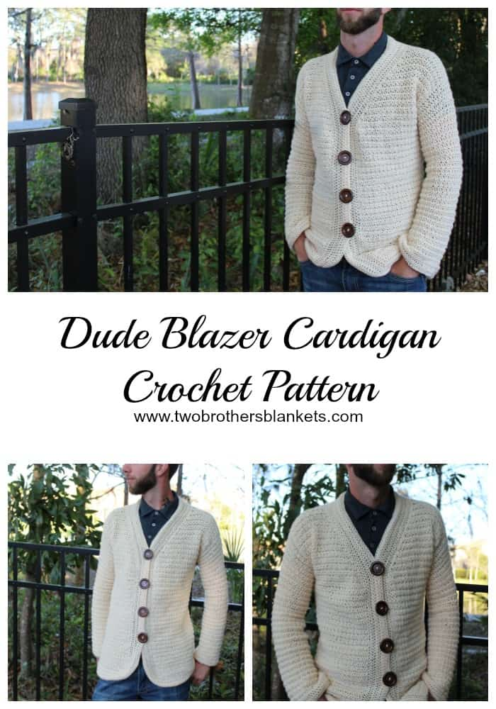 Dude Blazer Cardigan Crochet Pattern