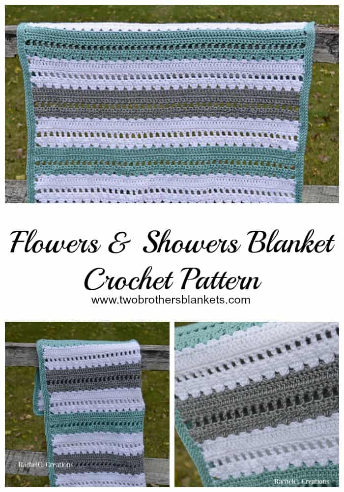 Flowers & Showers Blanket Crochet Pattern