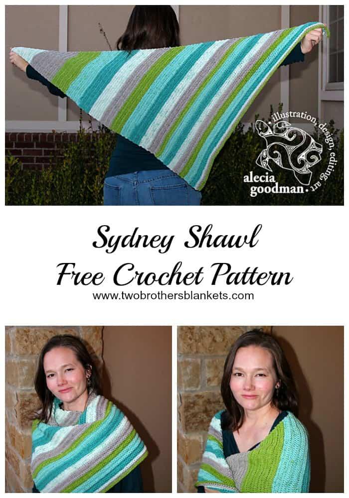 Sydney Shawl Free Crochet Pattern