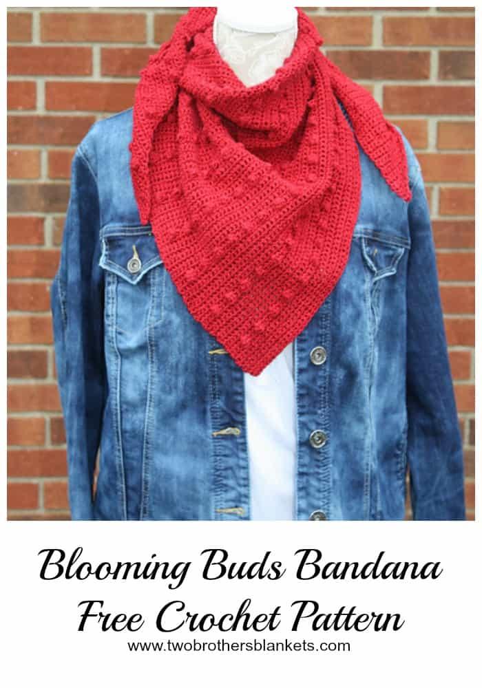 Blooming Buds Bandana Free Crochet Pattern