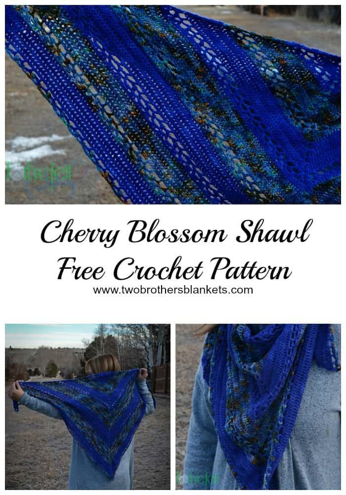 Cherry Blossom Shawl Free Crochet Pattern