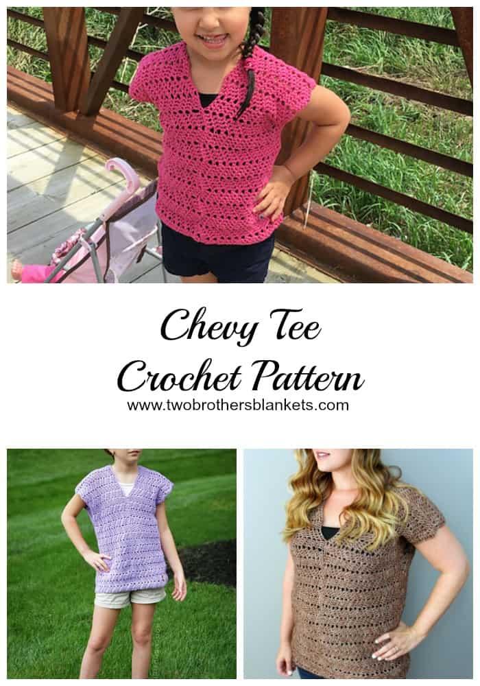 Chevy Tee Crochet Pattern Pin