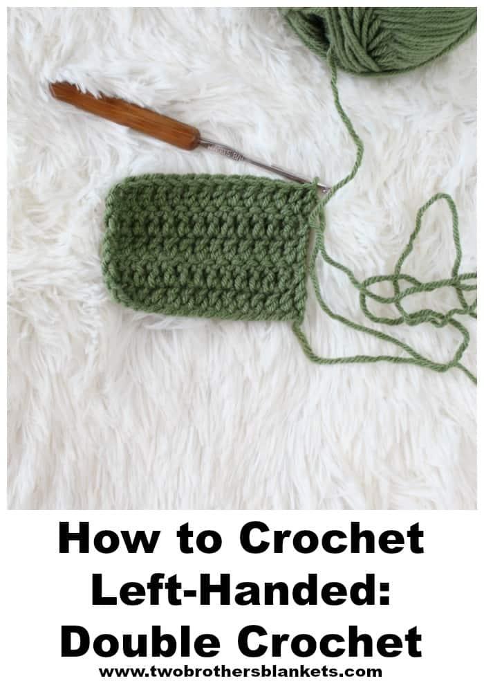 How to crochet left-handed: double crochet.