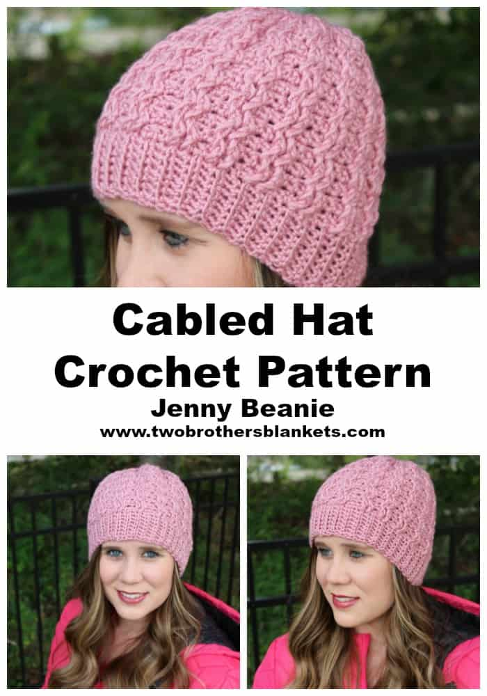 Cabled Hat Crochet Pattern Jenny Beanie