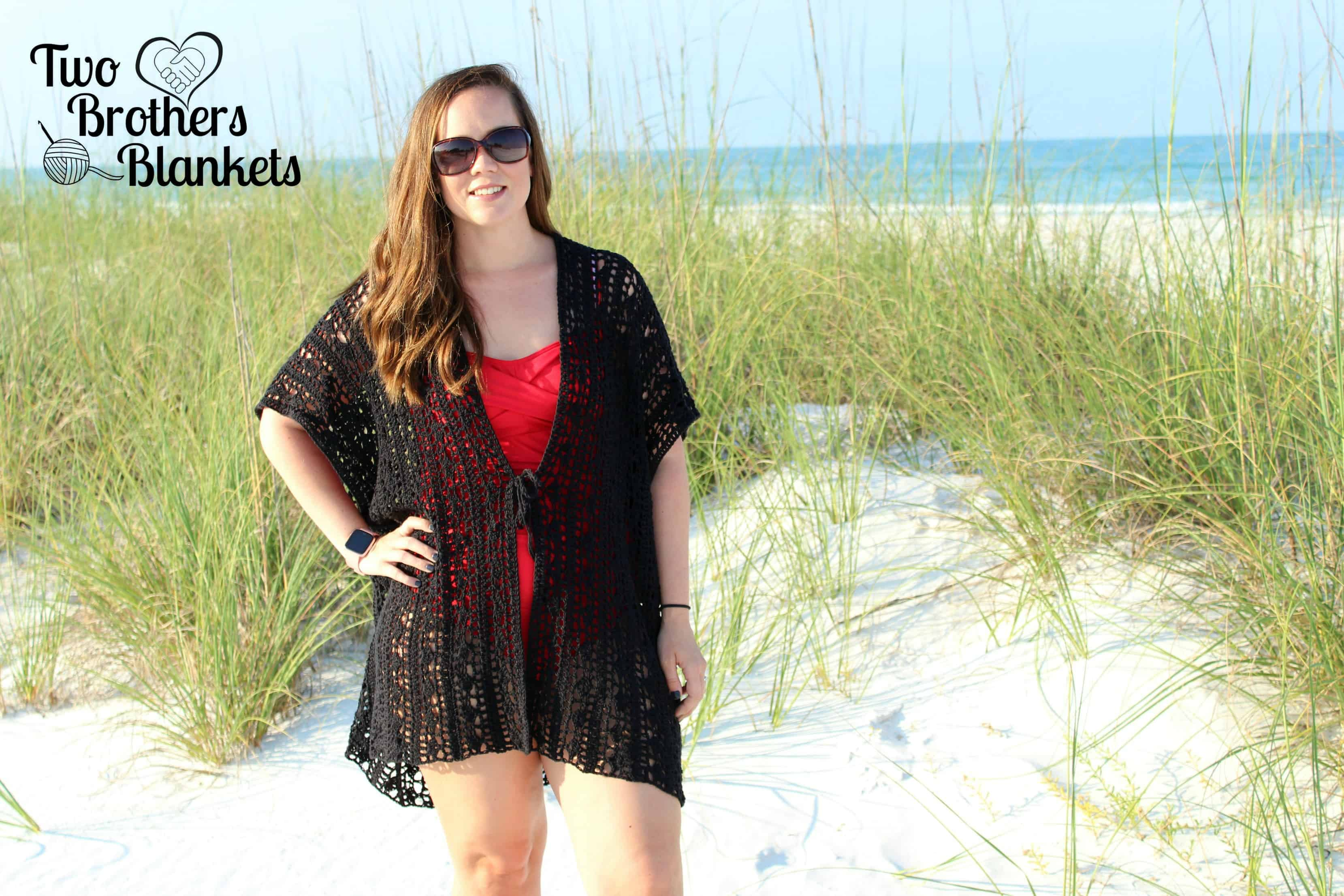 Beach Day Ruana Crochet Pattern