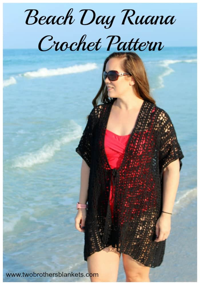 Beach Day Ruana Crochet Pattern