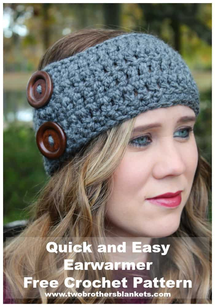 Quick and Easy Earwarmer Free Crochet Pattern