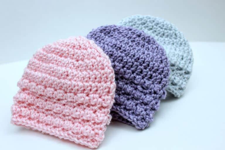 Crochet Newborn Beanie Free Pattern