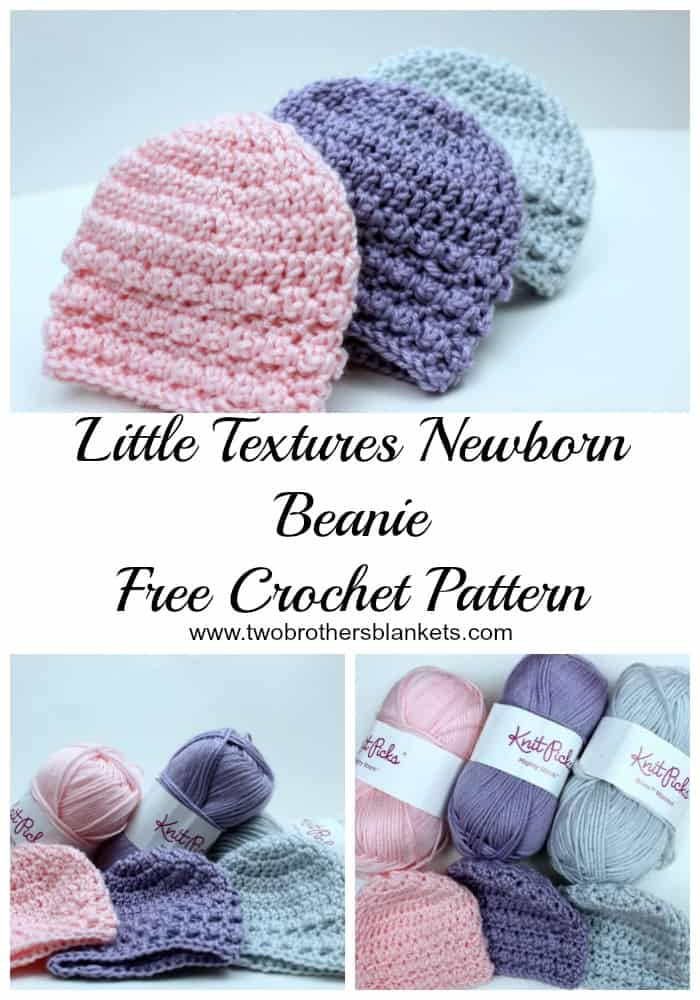 Little Textures Newborn Beanie Free Crochet Pattern