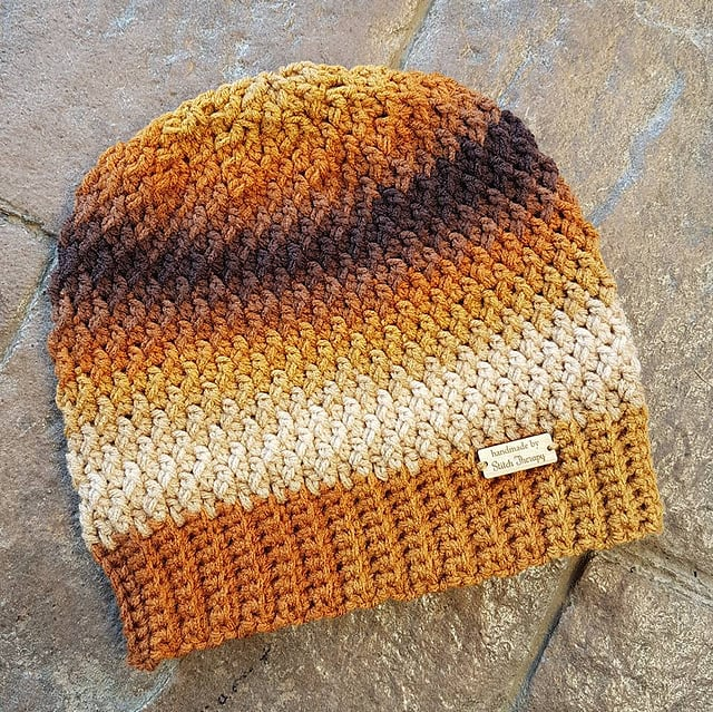 Crochet Slouch Hat called the Savannah Slouch.