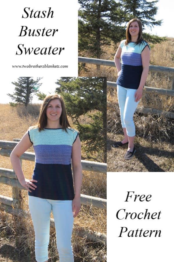Stash Buster Sweater Free Crochet Pattern