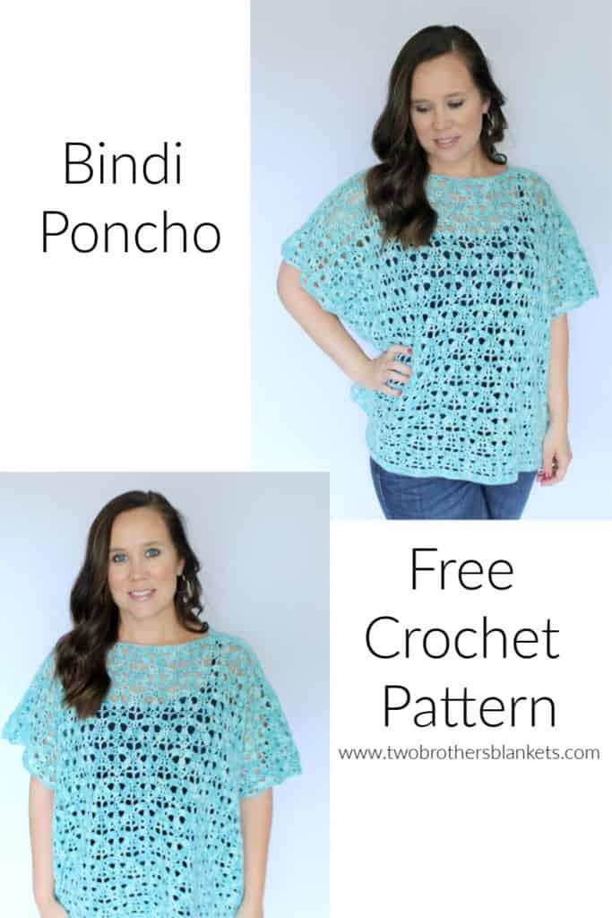 Bindi Poncho Free Crochet Pattern