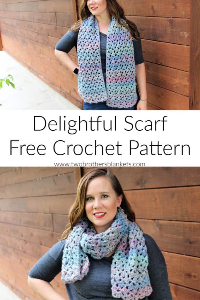 Delightful Scarf Free Crochet Pattern