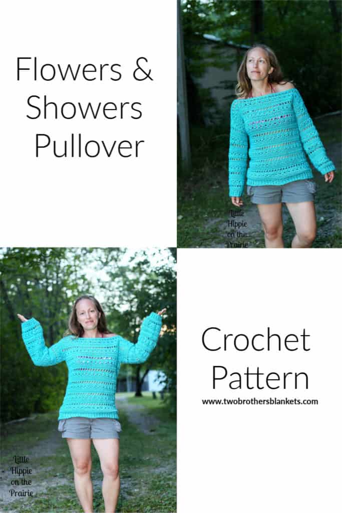 Flowers & Showers Pullover crochet pattern