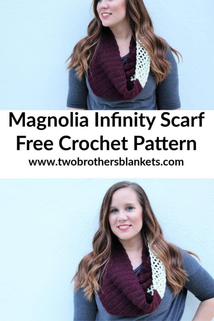 Magnolia Infinity Scarf Free Crochet Pattern