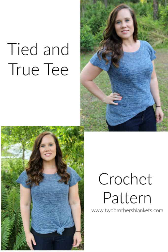 Tied and True Tee Crochet Pattern by Two Brothers Blankets