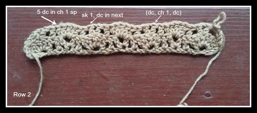 Sarah Scarf Crochet Pattern photo tutorial step 2.