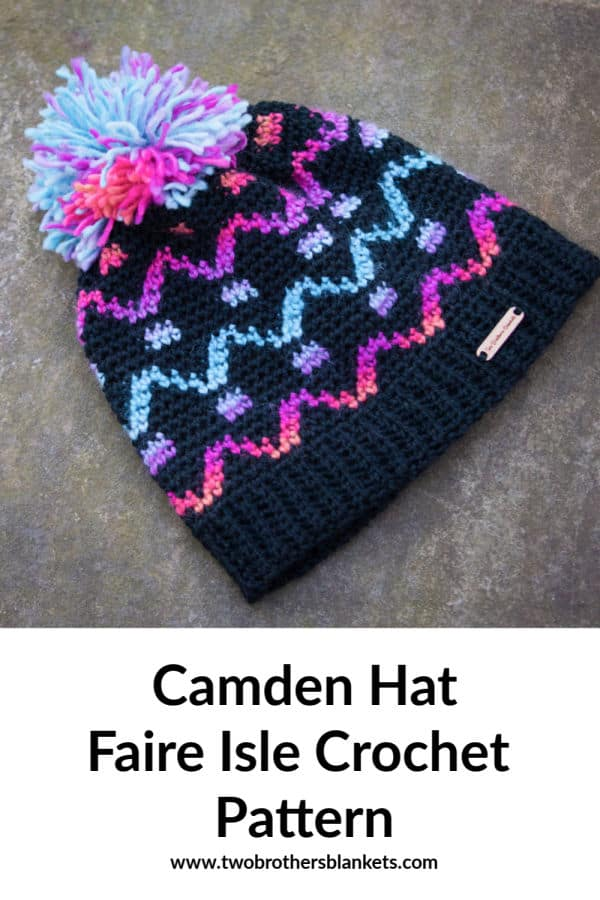 Camden Hat Fair Isle Crochet Pattern