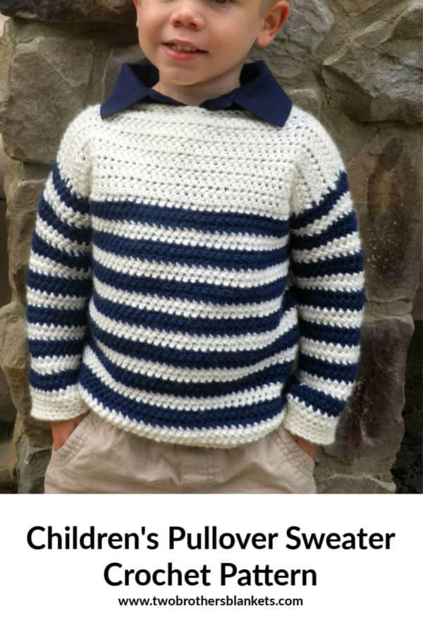 Children's Upper Eastside Sweater Crochet Pattern