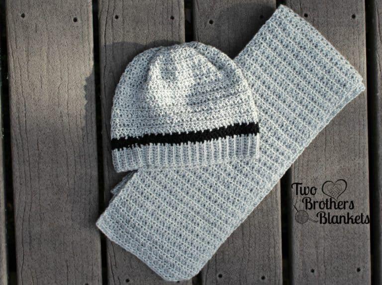 Men's Crochet Hat and Scarf Pattern