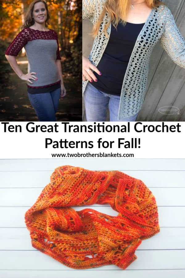 Ten Great Transitional Crochet Patterns for Fall!