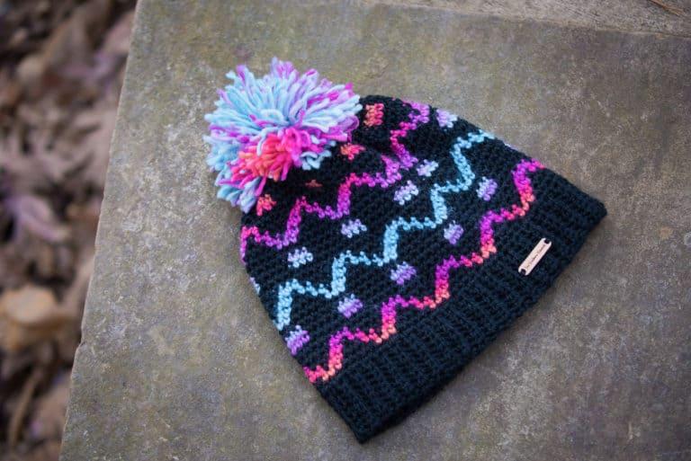 Fair Isle Crochet Hat Pattern- Camden Hat