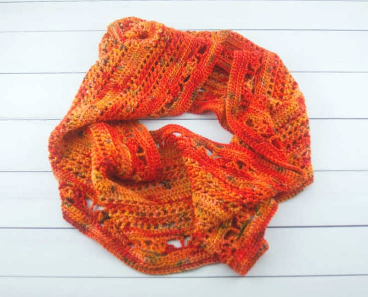 Flames Forever Crochet Infinity Scarf Pattern